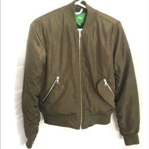 DIP zip up bomber jacket coat army green XS